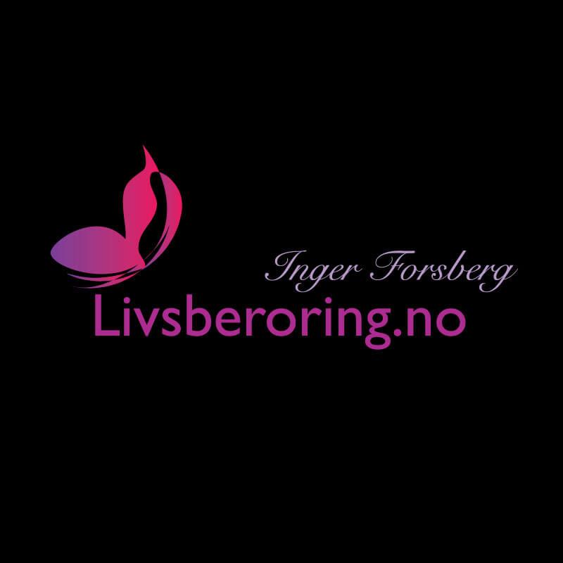 Ny logo Livsberøring Lena Bee Logodesign